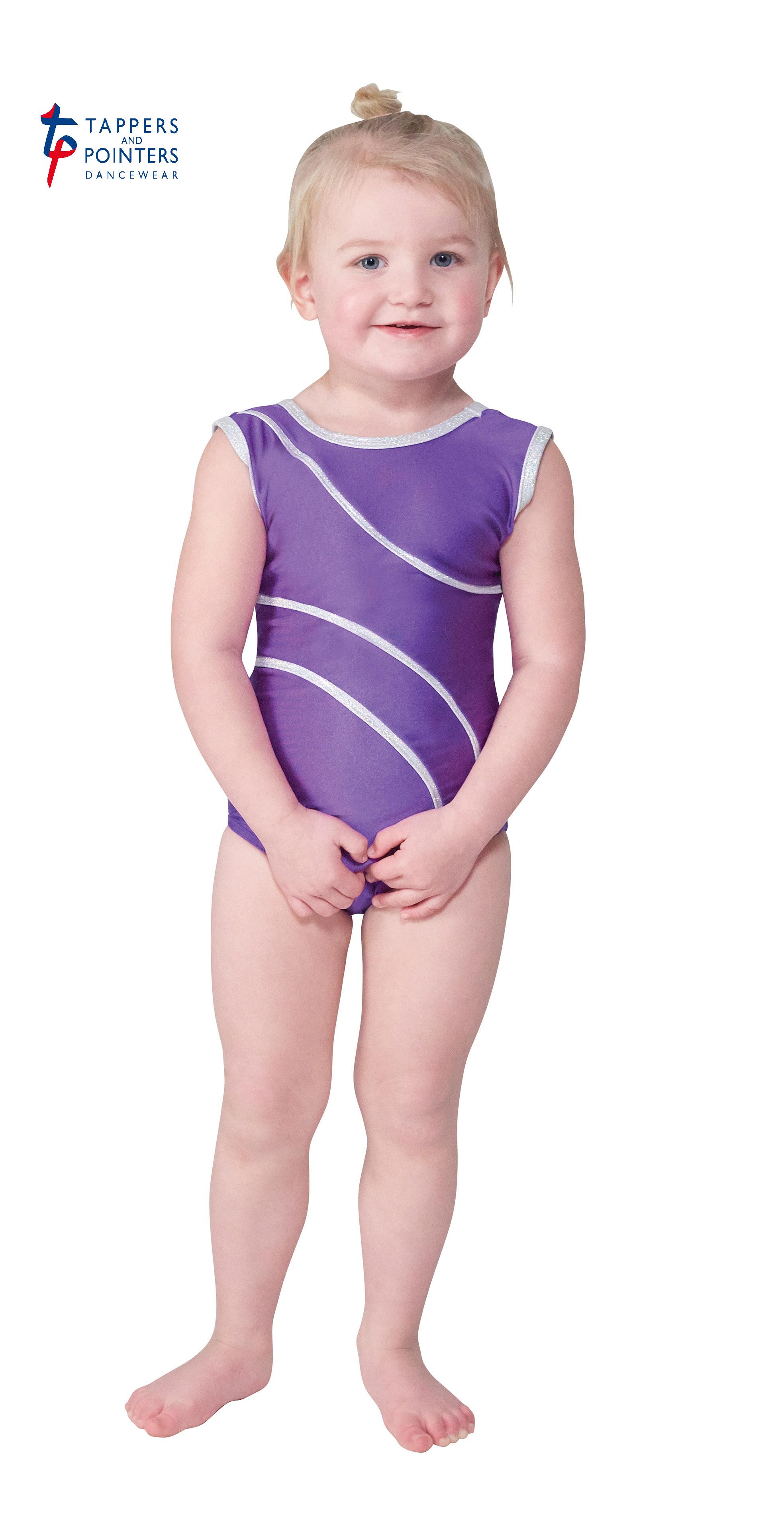 f04bfecb0 DEL 1 Dancewear leotard in purple with silver hologram embedded ...