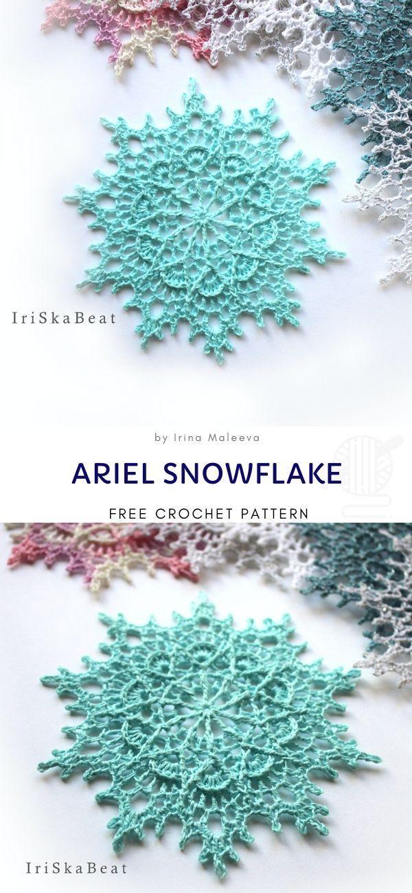 Frozen Snowflake Winter Decoration – Free Pattern – Handarbeit