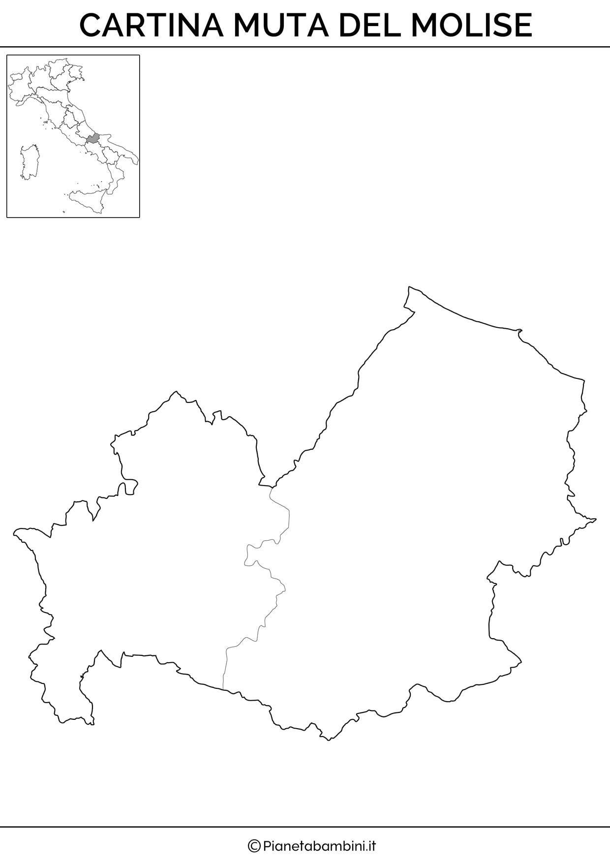 Cartina Del Molise Geografica.Cartina Muta Fisica E Politica Del Molise Da Stampare Geografia Lezioni Di Scienze Schede Di Lettura