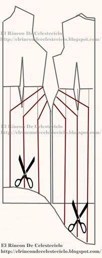 b376ef9be Trazo de vestido cola de pato con falda ampliada