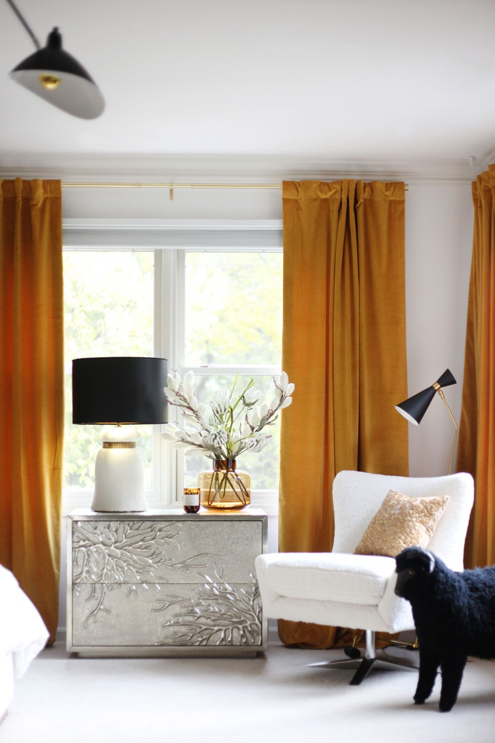 my new gold velvet curtains  house of hipsters  home