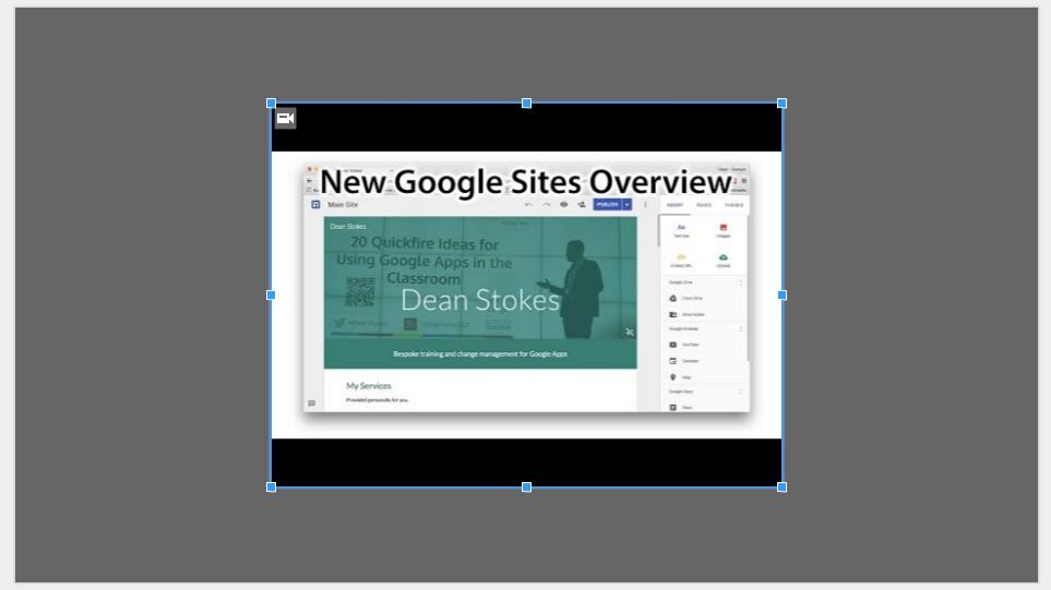 Google Slides Adding Video Google Slides Educational Technology Google