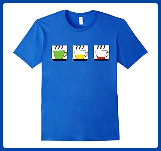 Mens Green Yellow Red Coffee Lovers Tshirt by Coffee Made Better Medium Royal Blue - Food and drink shirts (*Amazon Partner-Link)