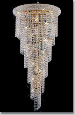 Most glamorous beautiful chandelier ever! Spiral Collection Extra-Large Crystal Chandelier -GrandLight.com