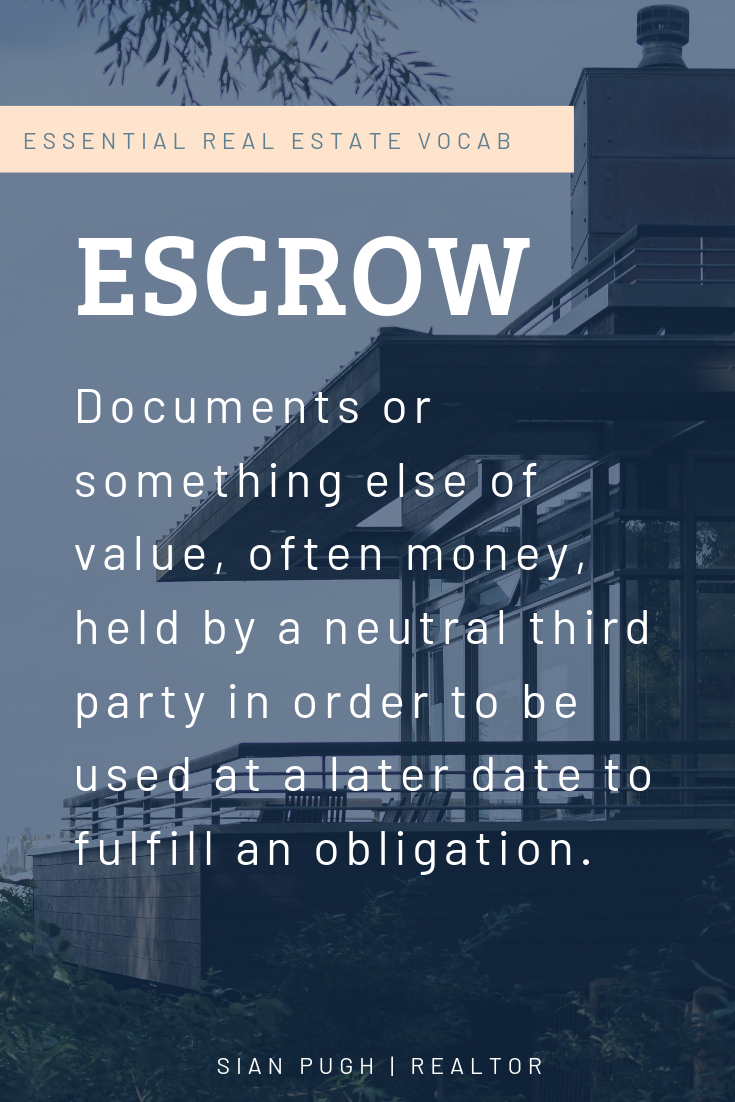 If You Re Buying A Home The Term Escrow Will Come Up On Many