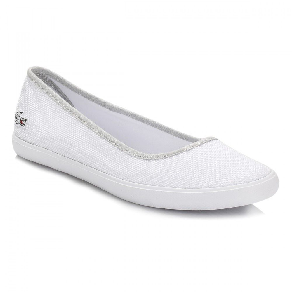 122fe22c7791 Lacoste Womens White Marthe Slip On Pumps