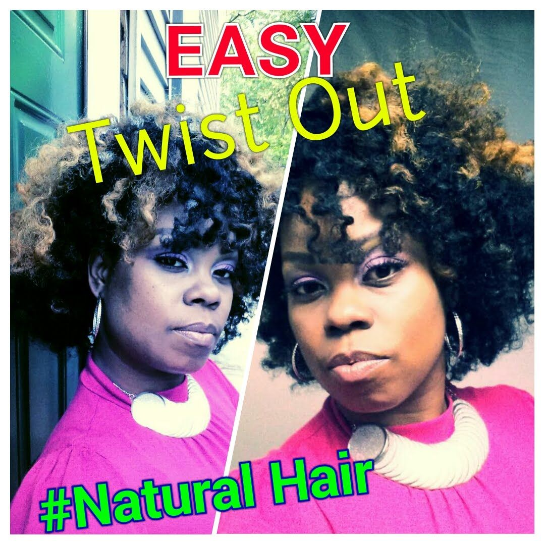 Easy flat twist out for natural relaxed and transitioning hair
