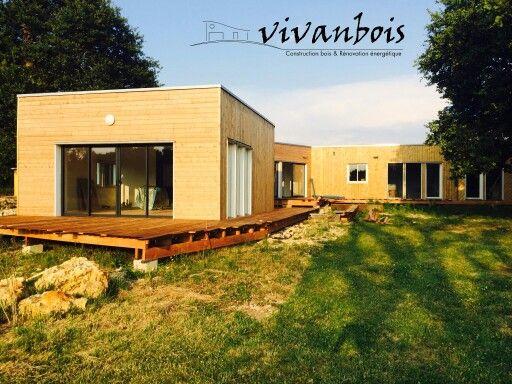 Maison ossature bois toit plat Construction maison ossature bois