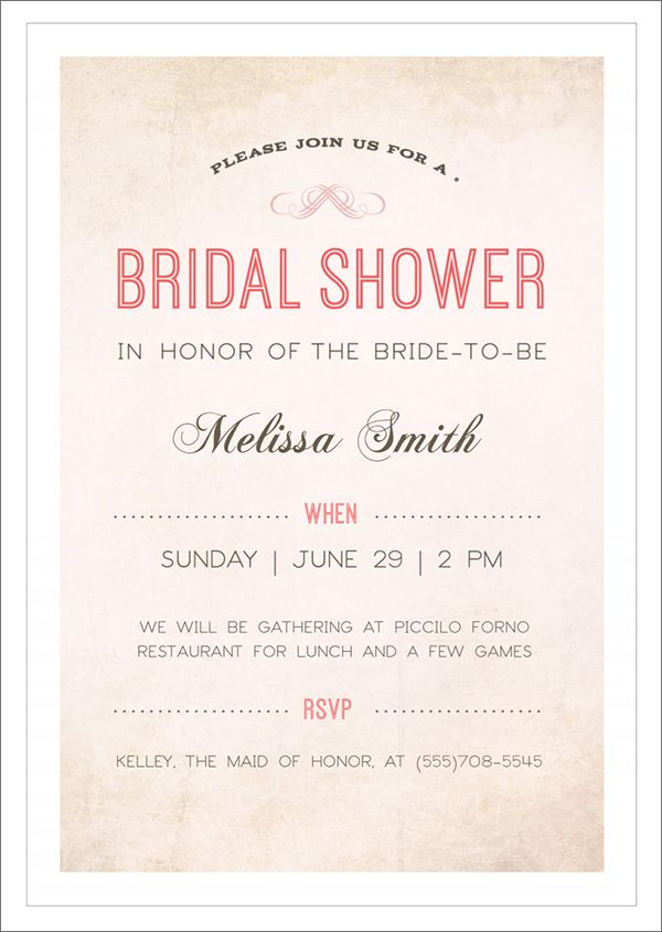 Free Bridal Shower Invitations Templates 22 Free Bridal Shower Printable Invitations  Pinterest  Bridal .