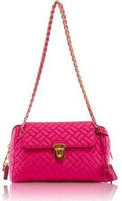 5802fd7f468e Prada Quilted Tessuto Chain Handbag Hot Pink BR 4965 PATTINA TESSUTO IMPUNTU  BR4965. Messenger sling