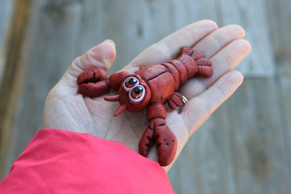 Lobster Crab Polymer Clay Sculpture