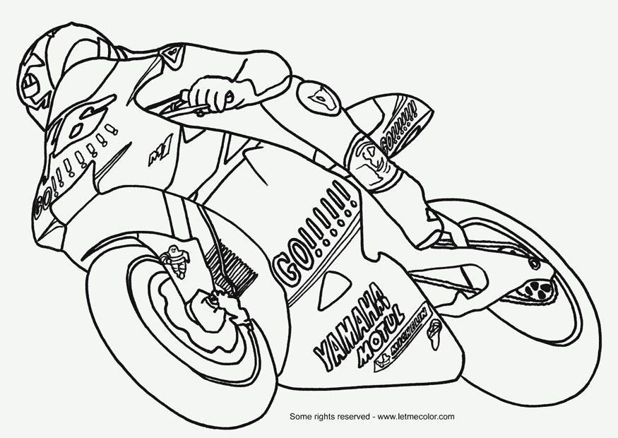 Risultati Immagini Per Disegni Da Colorare Di Moto Pagine Da