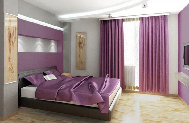 purple bedroom interior design ideas