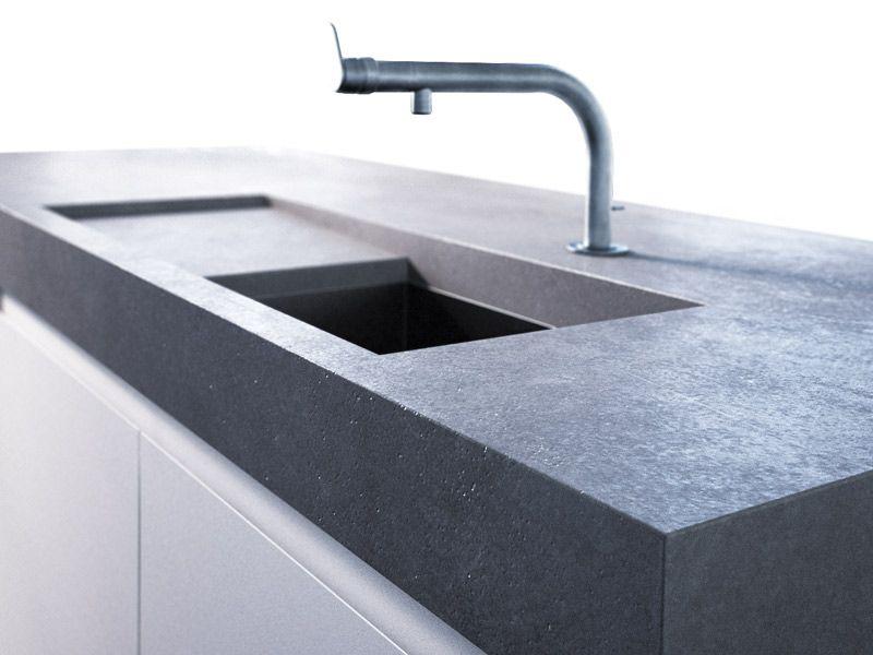 Outdoor Küche Beton Arbeitsplatte : Betonarbeitsplatte penallo von arrangio betonarbeitsplatte