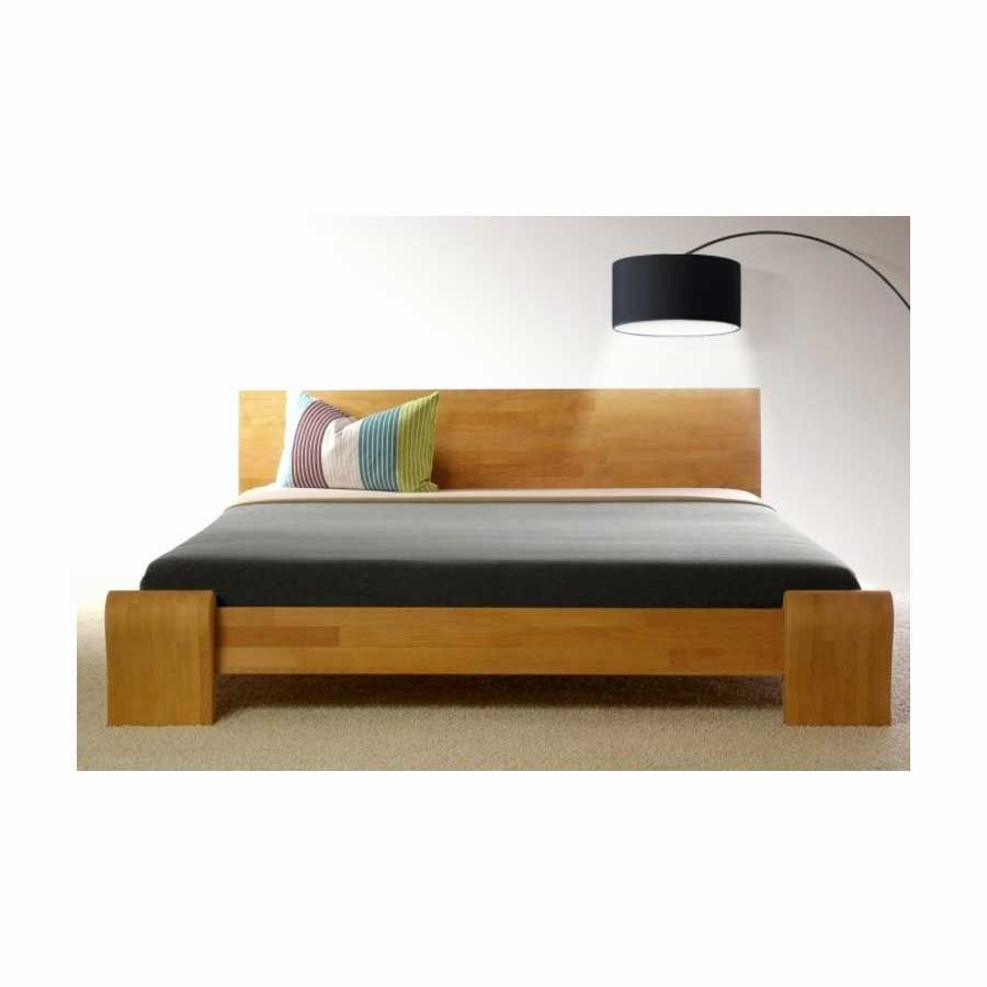Lit Bois Massif Contemporain Noyer Clair Haut De Gamme Lounge Bed Design Modern Wooden Bed Design Bed Design