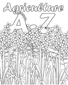 A to z agriculture coloring book