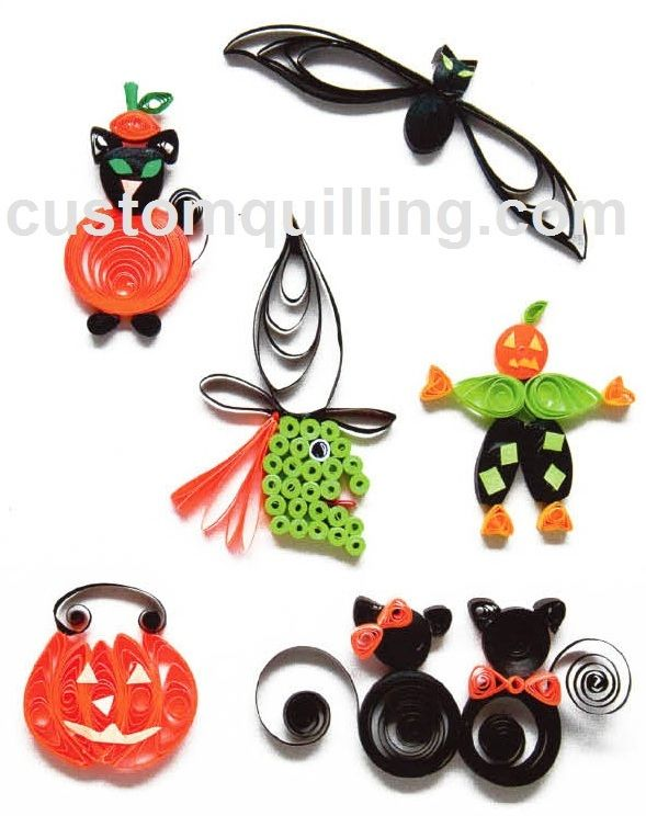 Halloween paper quilling for Quilling kitchen set