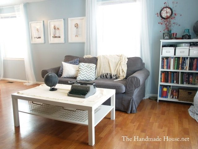 Grey Couch Blue Walls White Accents Next Living Room Grey Couch Blue Walls Home Living Room