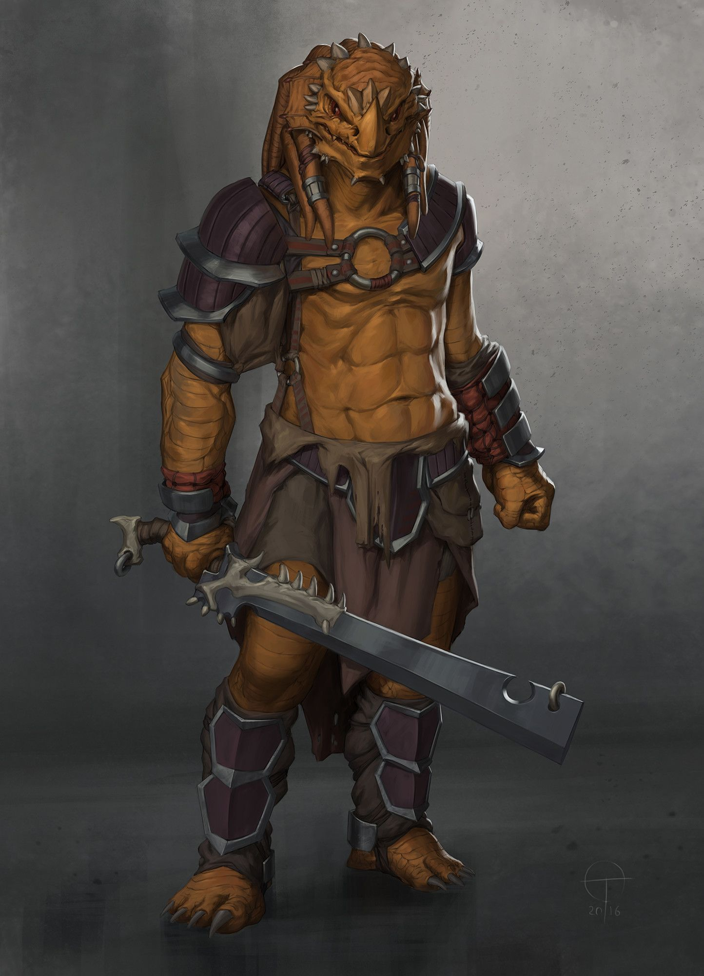 Character Design D D : Artstation dragonborn barbarian ted ottosson