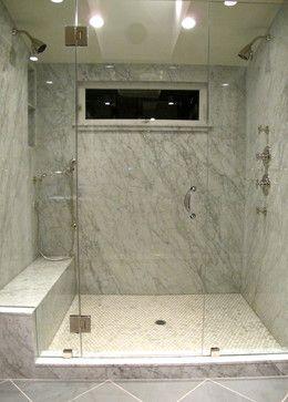 Houzz Bathrooms Marble Slab Shower Bathroom Design Ideas