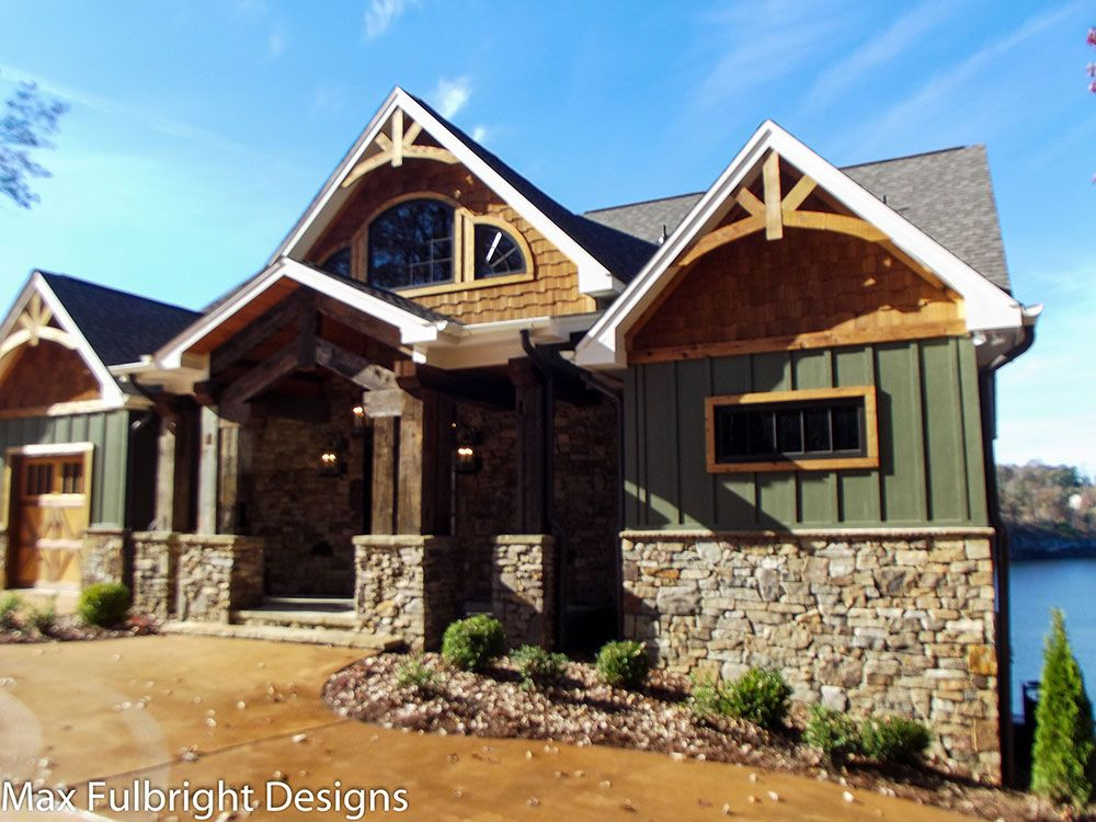 3 Story Open Mountain House Floor Plan in 2019  Our next home ideas  House plans Rustic house