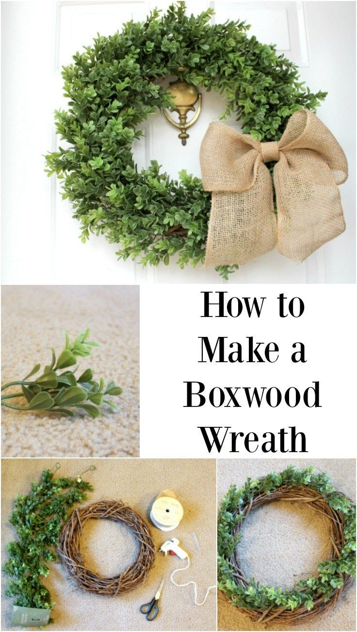 How to Make a Faux Boxwood Wreath | Finding Mandee
