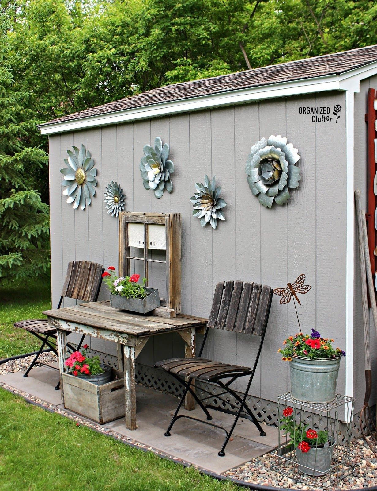 Delightful Shed DIY   Outdoor Junk Garden Shed Decor Organizedclutter.net Now You Can  Build ANY