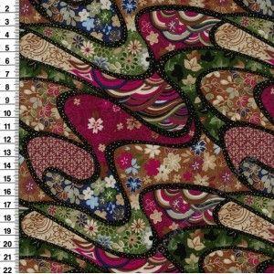 Tissu Patchwork T112-25301 SHIMMERING BOUQUET