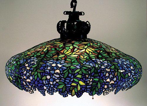 Unique Art Glass Metal Company Wisteria Chandelier Art Glass