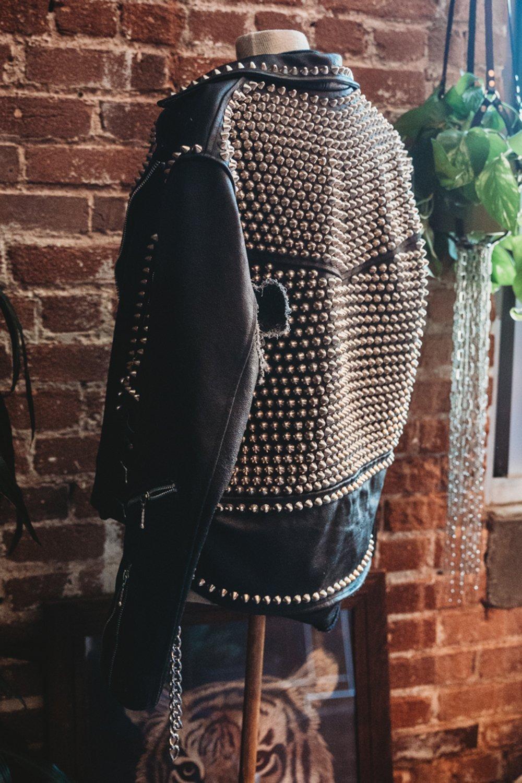 200e6f4a2 Anarchy in the U.K. Heavily Studded Vintage Worn Leather Jacket ...