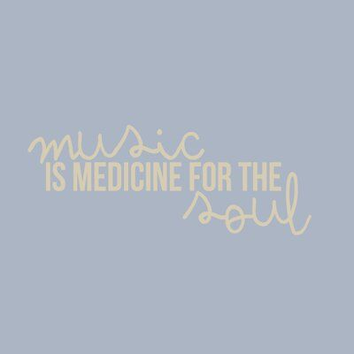 Ebern Designs Milbourn Music Is Medicine For The Soul Wall Decal | Wayfair