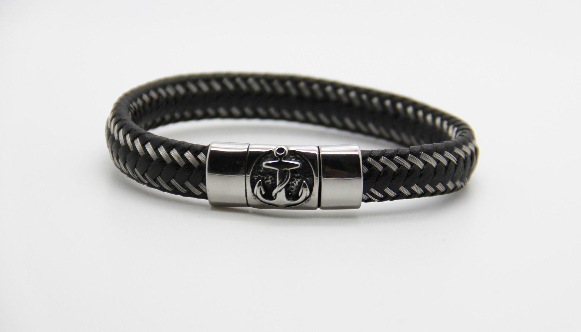 Bracelet pour homme ancre