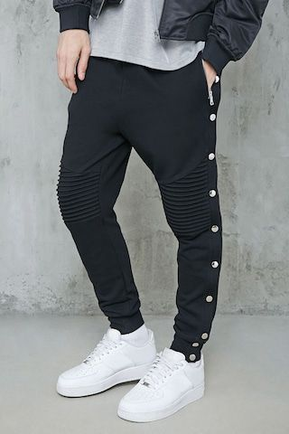 Snap,Button Moto Joggers in 2019