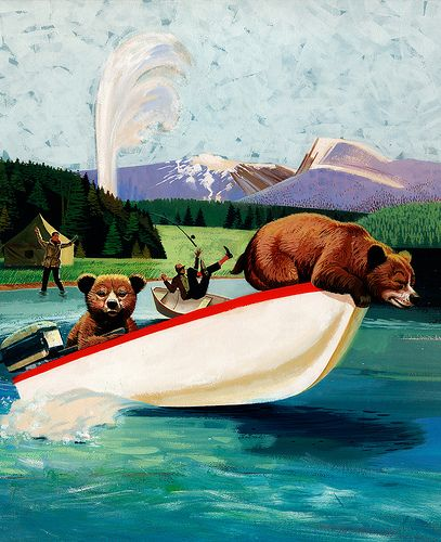 """Yellowstone Cubs"" Original Poster Artwork by Miehana, via Flickr"