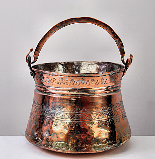 Antique Middle-Eastern Copper Bucket
