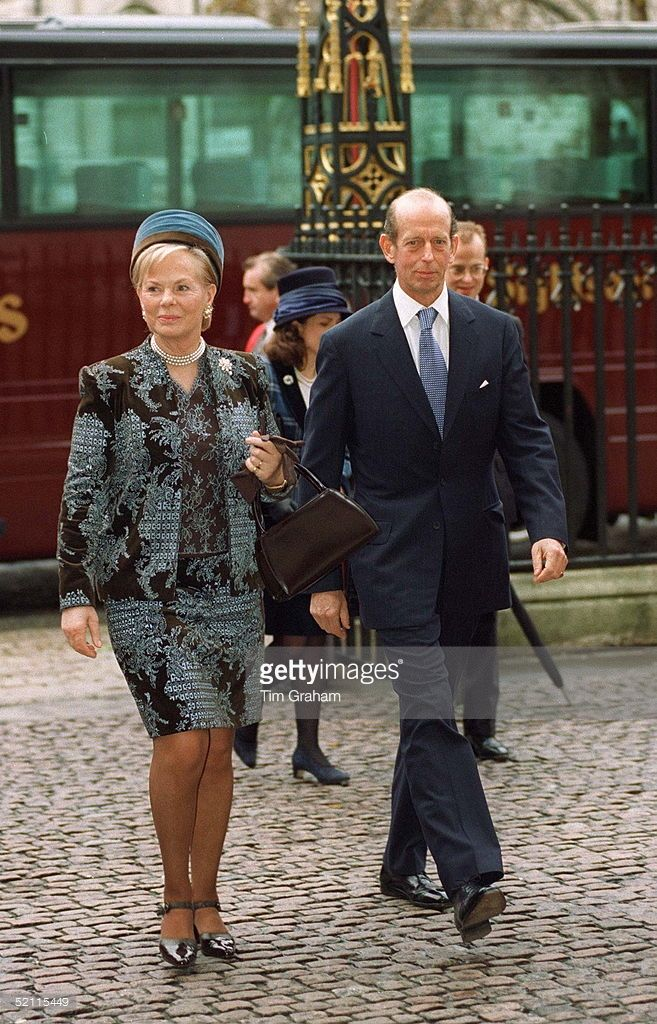 The Duke And Duchess Of Kent At Westminster Abbey For Golden Wedding Anniversary Service Royal Royal Clothing Duke And Duchess