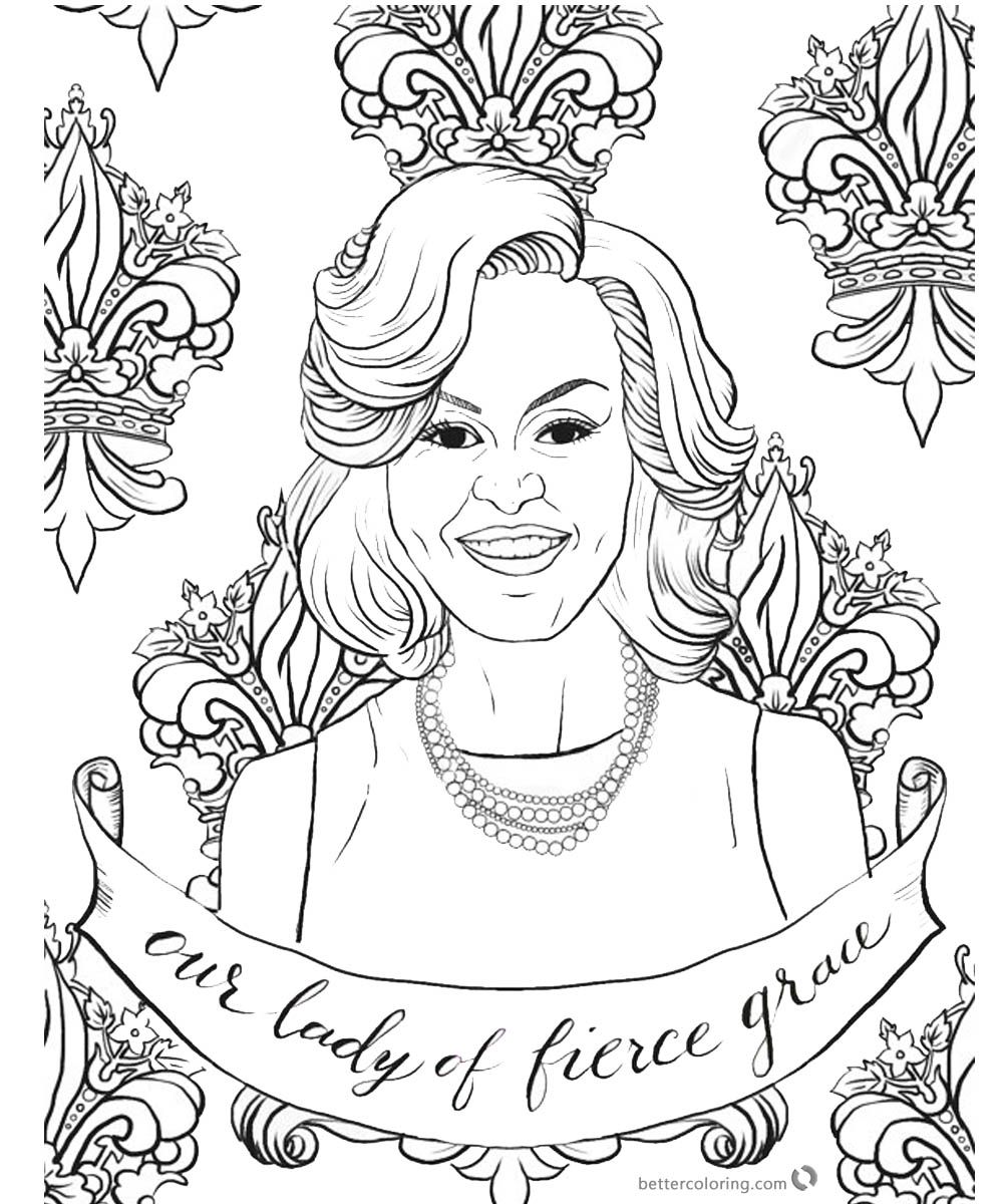 Michelle Obama Coloring Page Graceful Lady Coloring Pages