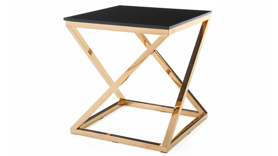 Geo End Table Contemporary End Tables Black Glass End Tables