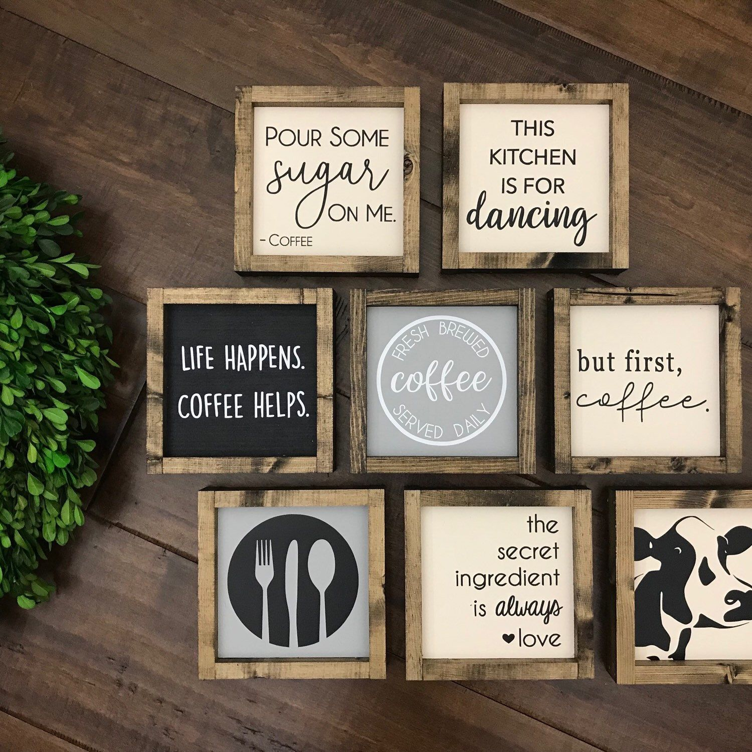 The Kitchen Collection | Kitchen Sign | Coffee Sign | Kitchen Decor | Coffee Bar | Kitchen is for Dancing | Dishes are Looking at Me Dirty #kitchencollection