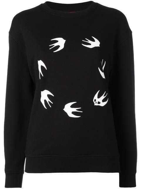 16183f1345 MCQ BY ALEXANDER MCQUEEN Swallow sweatshirt. #mcqbyalexandermcqueen #cloth # sweatshirt