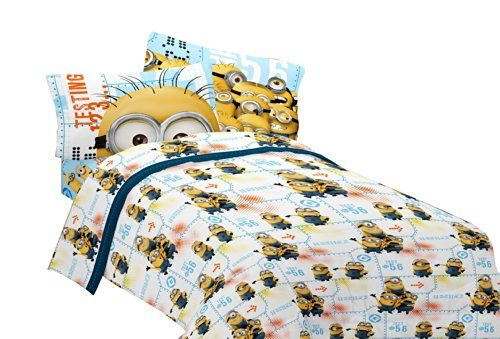 Universal Mb440c Minions Testing 1234 Microfiber Sheet Set, Full, 2015  Amazon Top Rated Sheets