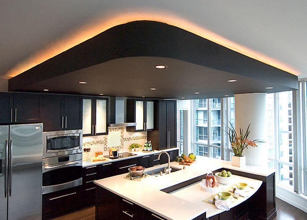 натяжной потолок с подсветкой на кухне фото фенечку можно