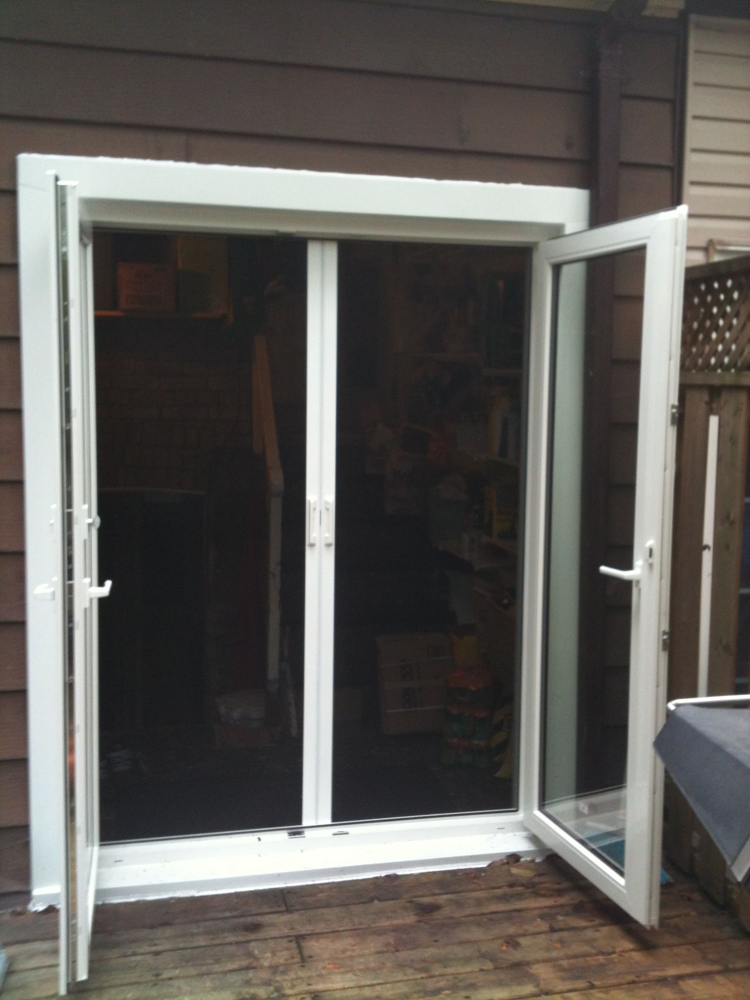 European tilt and turn french door with retractable for European french doors