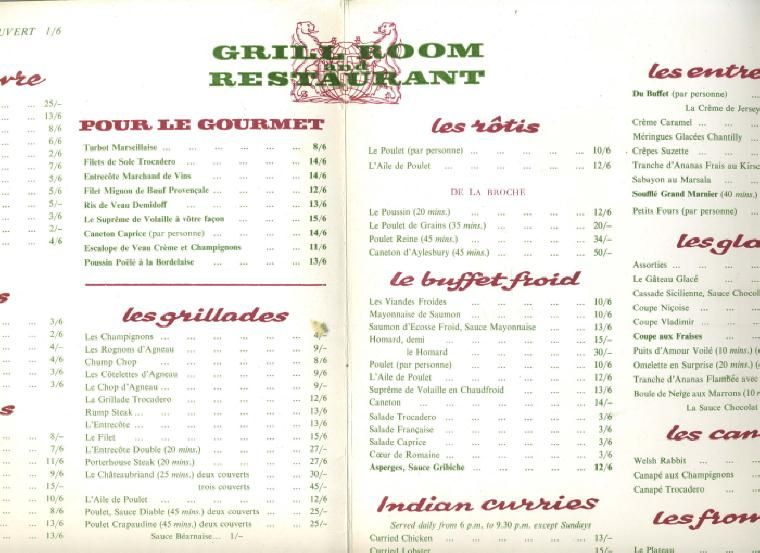 french restaurants menu - Google Search Doctor Faustus - french menu