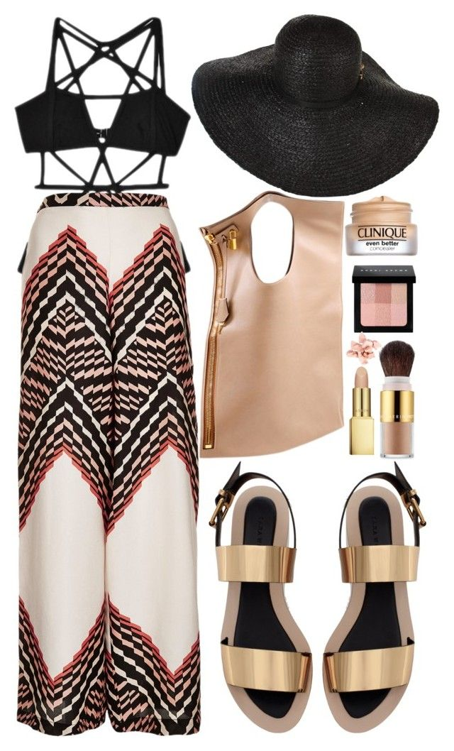 """""""A Day In The Beach"""" by styling-w-mabel ❤ liked on Polyvore featuring CHROMAT, Topshop, Zara, AERIN, Rachel Zoe, Tom Ford, Bobbi Brown Cosmetics and Estée Lauder"""