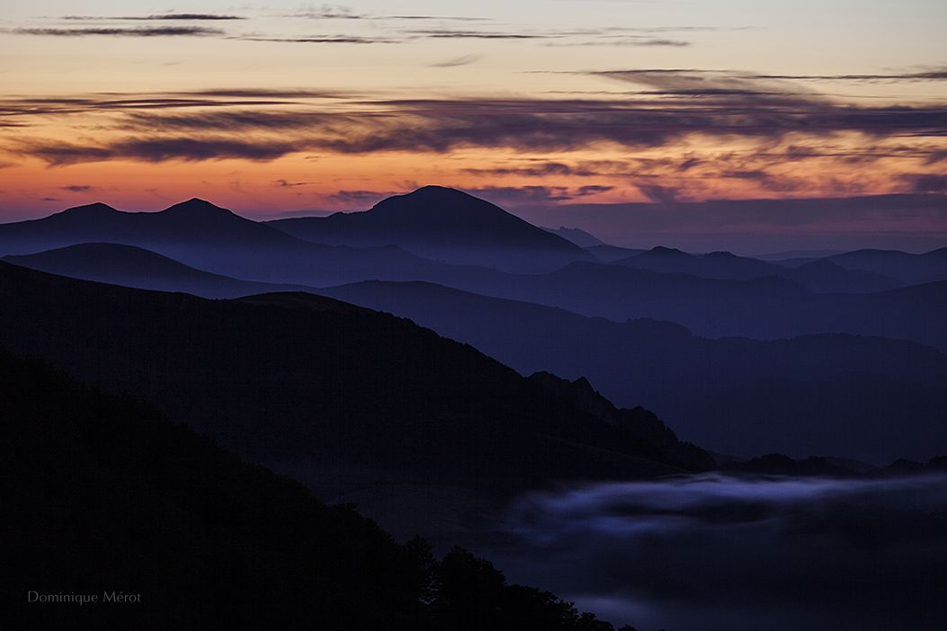 Evening mist by dominique-merot on deviantART. View from Iraty forest, les Pyrénées - France