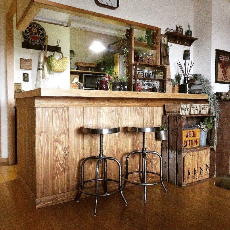 既設のキッチンカウンターを無垢材に キッチンdiy Limia リミア キッチンカウンター キッチン Diy インテリア