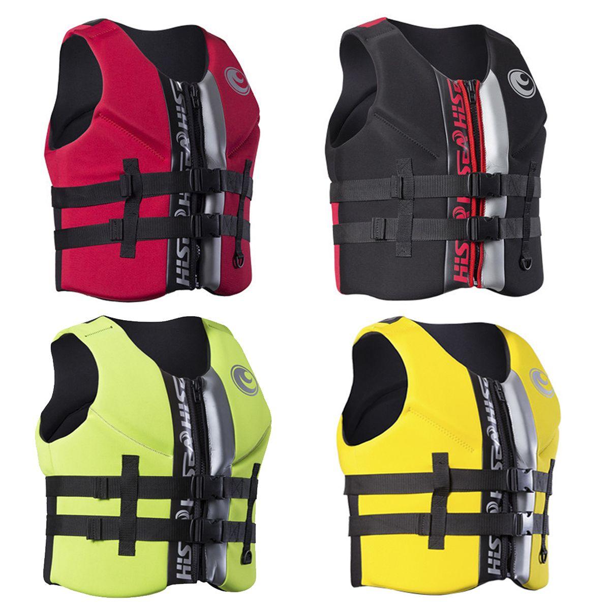 Life Jacket Water Ski Premium Neoprene Vest Wakeboard Kayaking Drifting Swimming Water Skiing Wakeboarding Kayaking