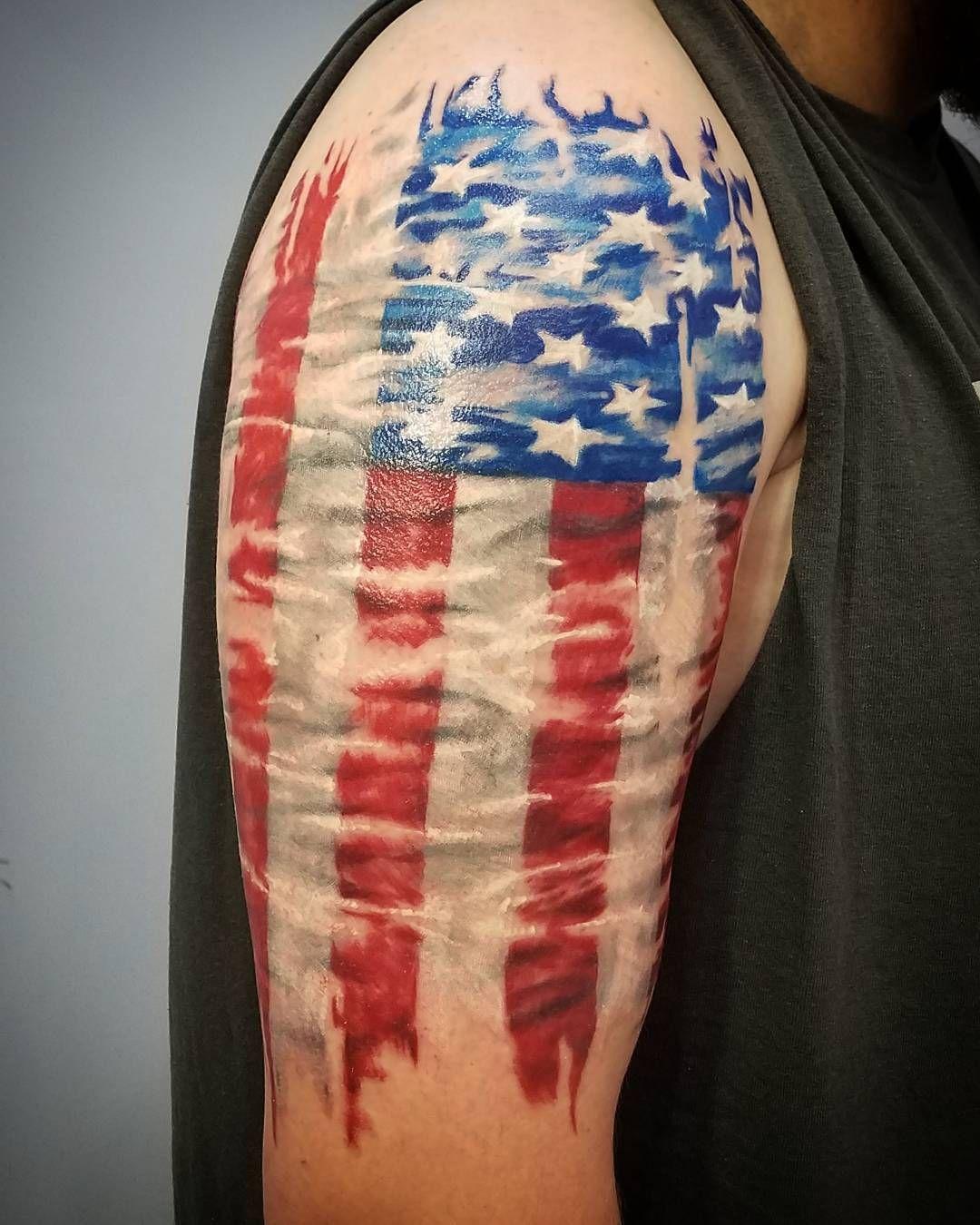 American Flag Tattoo 84 Shoulder Sleeve Tattoos Tattoos American Flag