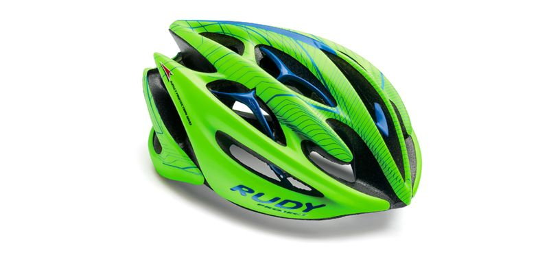 6c628d623e20a RUDY PROJECT STERLING LIMITED EDITION FLUO HELMET GREEN   BLUE SMALL    MEDIUM